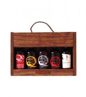 Quinta do Estanho houten kistje met 5 miniatuur Port flesjes